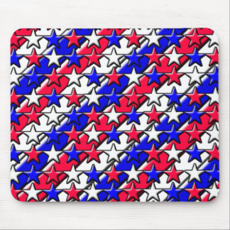 Rote, weiße und blaue Streifen und Sterne Mauspad