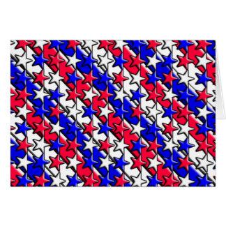 Rote, weiße und blaue Streifen und Sterne Notecard Mitteilungskarte