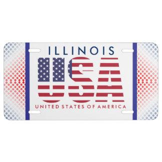 Rote, weiße und blaue USA US Nummernschild