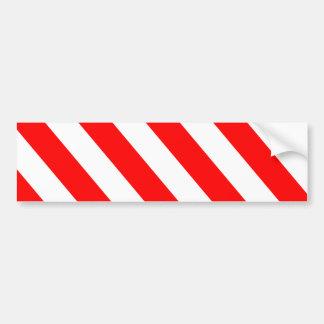 Rote weiße warnende Streifen Autoaufkleber