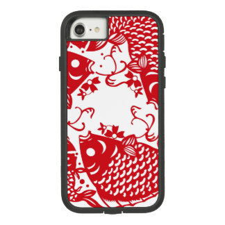 Rote Whirling Koi Karpfen-Fische gruppieren iPhone Case-Mate Tough Extreme iPhone 8/7 Hülle