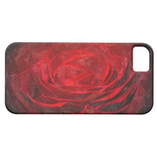 Rote Winter-Glühen-Schatten-Rose gotischer IPhone iPhone 5 Hülle