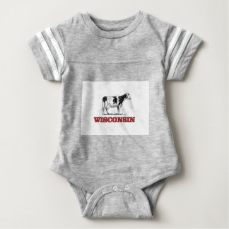 rote Wisconsin-Kuh Baby Strampler