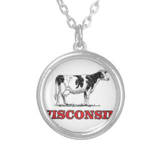 rote Wisconsin-Kuh Versilberte Kette