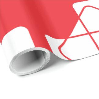 Rote Würfel Geschenkpapier