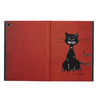 Rote zackige schlechte schwarze Katze