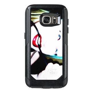 Rote Zähne der Lippen  Schnur-  OtterBox Samsung Galaxy S7 Hülle