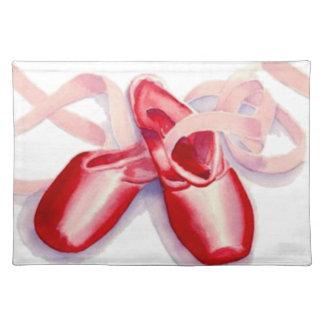 Rote Zehe-Schuhe Tischset