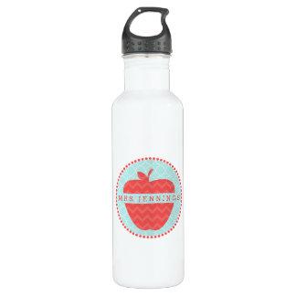 Rote Zickzack Lehrer-Wasser-Flasche Apples Trinkflasche