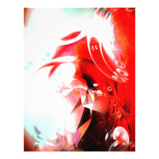 Roter abstrakter Flyer