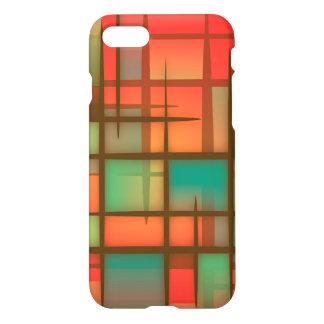 Roter abstrakter Kunst-Kasten iPhone 8/7 Hülle