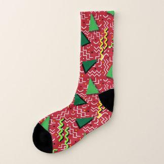Roter abstrakter Memphis-Entwurf Socken