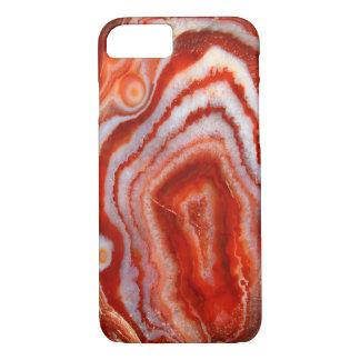 Roter Achat Kristalldruse geode Stein-Foto-Hipster iPhone 8/7 Hülle