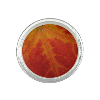 Roter Ahorn-Blatt-abstrakte Ring