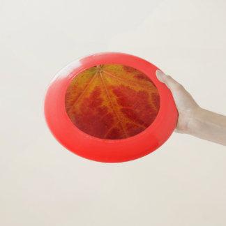 Roter Ahorn-Blatt-abstrakte Wham-O Frisbee
