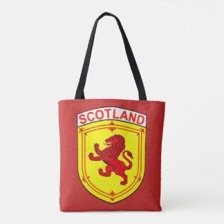 Roter alter zügelloser Löwe Schottlands Tasche