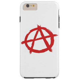 Roter Anarchist ein Symbol-Anarchie-Logo Tough iPhone 6 Plus Hülle