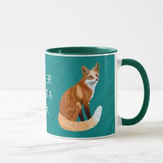Roter Art-Morgen-Gebräu-Spaß Fox Retro welcher Tasse