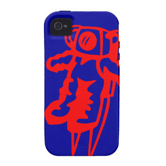 Roter Astronaut Case-Mate iPhone 4 Hüllen