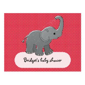 roter Babyelefant Postkarte