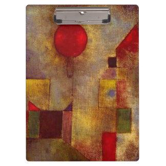 Roter Ballon-buntes abstraktes Pauls Klee
