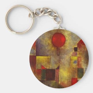 Roter Ballon-Schlüsselkette Paul Klees Standard Runder Schlüsselanhänger