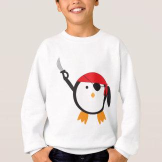 Roter Bandana-Piraten-Pinguin Sweatshirt
