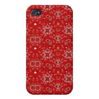 Roter Bandana-Speck-Kasten iPhone 4/4S Hülle