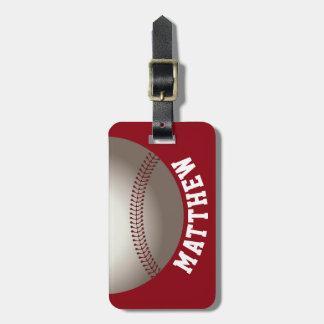 Roter Baseball-Sport Kofferanhänger