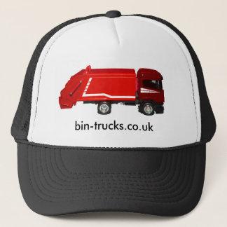 Roter Behälter-LKW Truckerkappe
