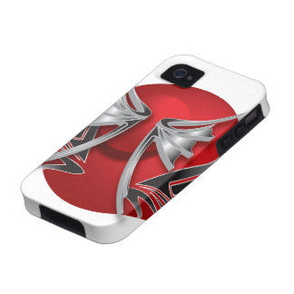 Roter Bereich abstrakt iPhone 4 Case