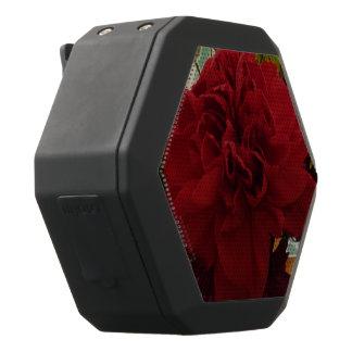 Roter Blumen-Lautsprecher Schwarze Bluetooth Lautsprecher