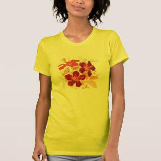 Roter Blumen-T - Shirt