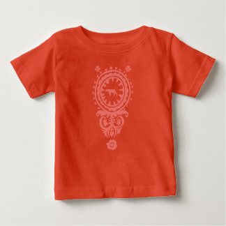 HUNTING WEIMARANER RED FLORAL BABY T-SHIRT