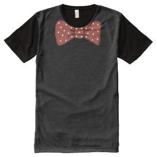 Roter Bogen-Krawatten-Druck mit weißem T-Shirt Mit Komplett Bedruckbarer Vorderseite