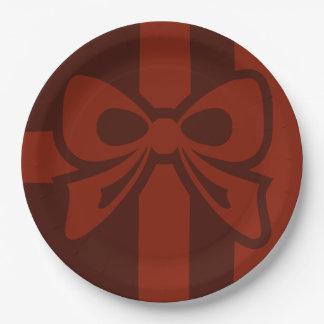 Roter Bogen - Weihnachten - Pappteller