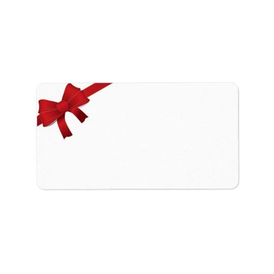 Roter Bogen-Weihnachtsfeiertag Adress Aufkleber