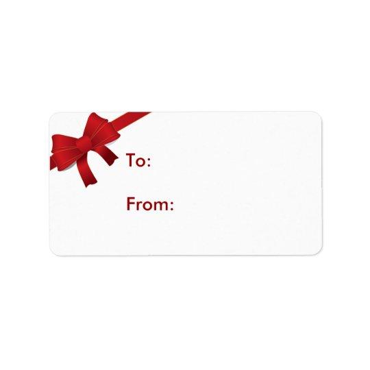 Roter Bogen-Weihnachtsgeschenk-Umbau Adressetikett