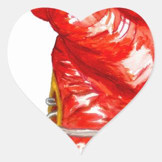Roter Boxhandschuh Herz-Aufkleber