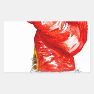 Roter Boxhandschuh Rechteckiger Aufkleber