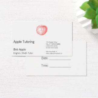 Roter Briefbeschwerer Apple Süßigkeits-Apples Visitenkarte