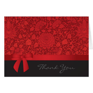 Roter Brokat danken Ihnen Grußkarte