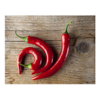 Roter Chili-Pfeffer Postkarten