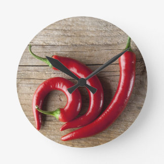 Roter Chili-Pfeffer Uhren