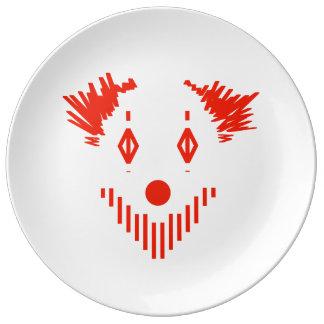 Roter Clown Teller