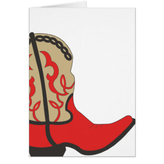 Roter Cowboystiefel Karte