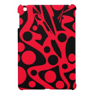 Roter Dekor iPad Mini Hüllen