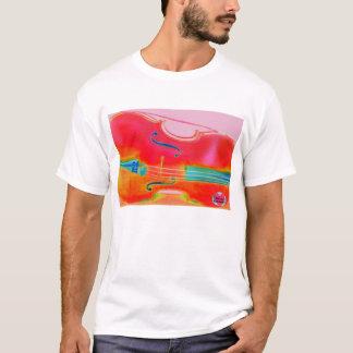 Roter der Cello-T - Shirt der musikalischen