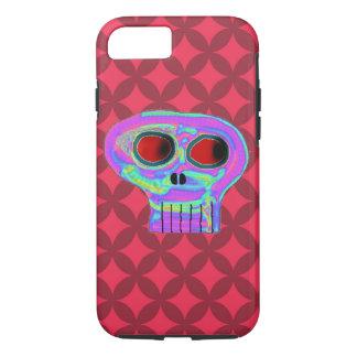 Roter Diamant-und Süßigkeits-Schädel iPhone 7 iPhone 8/7 Hülle
