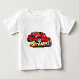 Roter Doppelfahrerhaus-LKW des Dodge-SRT10 Baby T-shirt